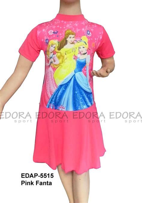 Rok Anak Perempuan Pink Baju Renang Diving Rok Karakter Edap 5515 Pink Fanta
