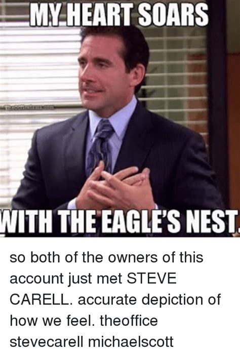 Steve Carell Memes - 25 best memes about eagles nest eagles nest memes
