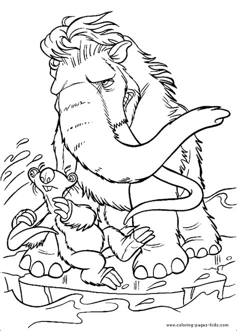 printablecolouringandactivity ice age printable colouring
