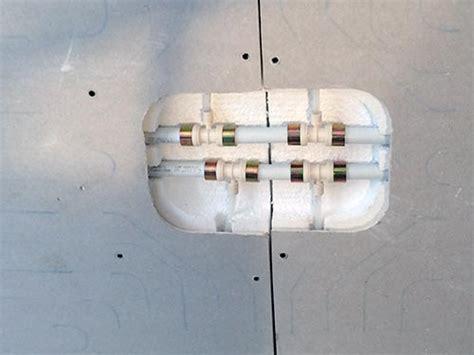 impianti radianti a soffitto impianto parete soffitto in cartongesso