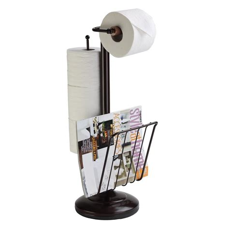 toilet paper rack free standing pedestal toilet paper holder with roll storage magazine rack
