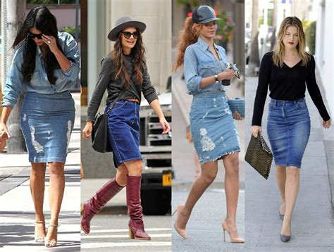 how to wear your denim skirt this autumn like a stylist