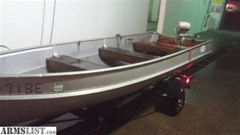 duck boat setup armslist for sale trade 14 foot alumacraft fishing or