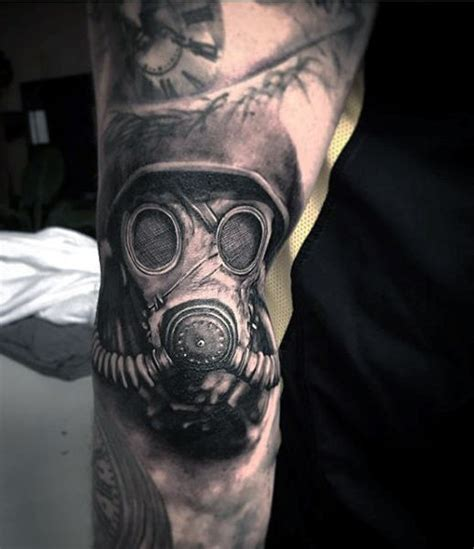 100 gas mask tattoo designs for men breath of fresh ideas