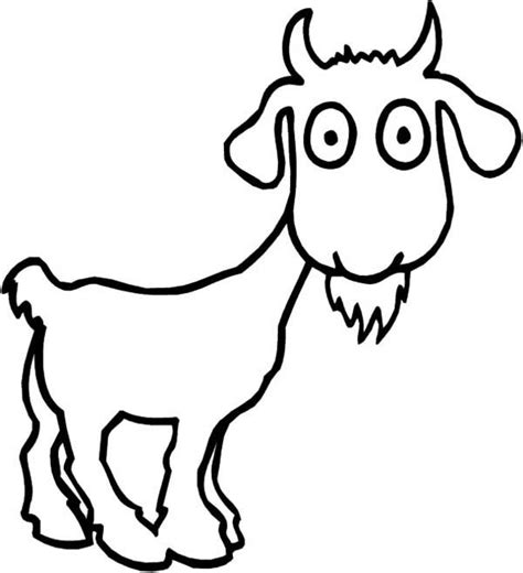 goat coloring page printable free cute goat coloring pages