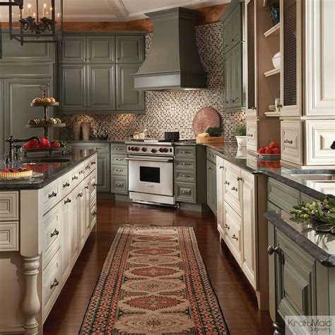 kraftmaid green cabinets painted cabinets in neutral colors with cocoa glaze