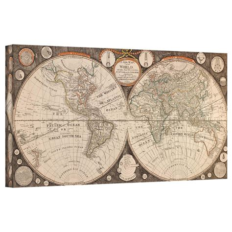 Antique Map Wall