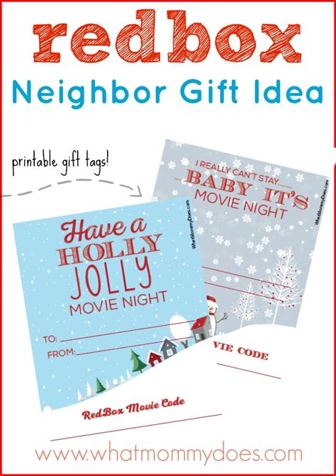redbox printable gift certificates cute redbox neighbor christmas gift idea what mommy does