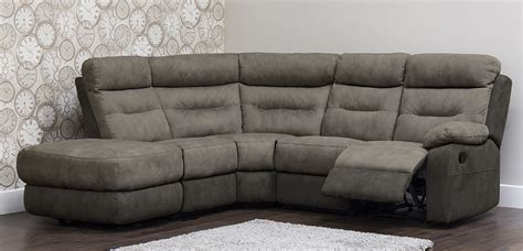 Dillon Fabric Recliner Corner Sofa Lhf Corner Recliner Sofa