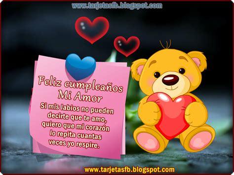 Imagenes Romanticas De Cumpleaños Para Mi Novio | postales de amor feliz cumplea 241 os mi amor tarjetas