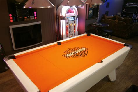 harley davidson custom design pool table cloth