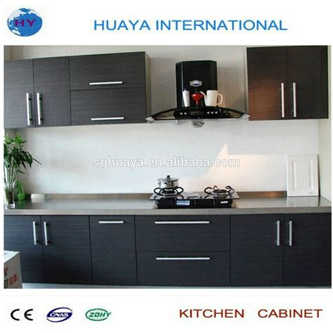 Cheap Black Kitchen Cabinets Cheap Melamine Modern Black Kitchen Cabinet Manufacturer In China Buy Modern Black Kitchen