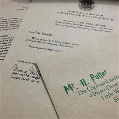 Harry Potter Acceptance Letter Paper Sale Hogwarts Acceptance Letter From Thesupplycompany On Etsy I