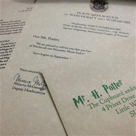 Hogwarts Acceptance Letter Delivery Sale Hogwarts Acceptance Letter From Thesupplycompany On Etsy I