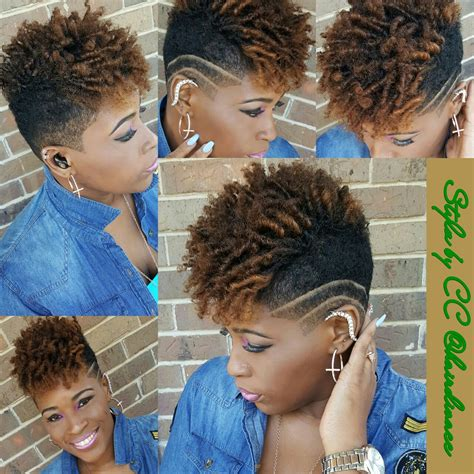 styles for black women with a taper and line short natural undercut black women short cuts