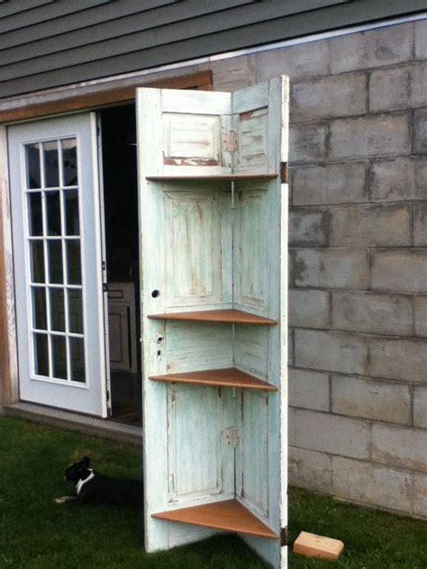 Corner Shelf Made From Door by Door Corner Shelf Crafting Diy