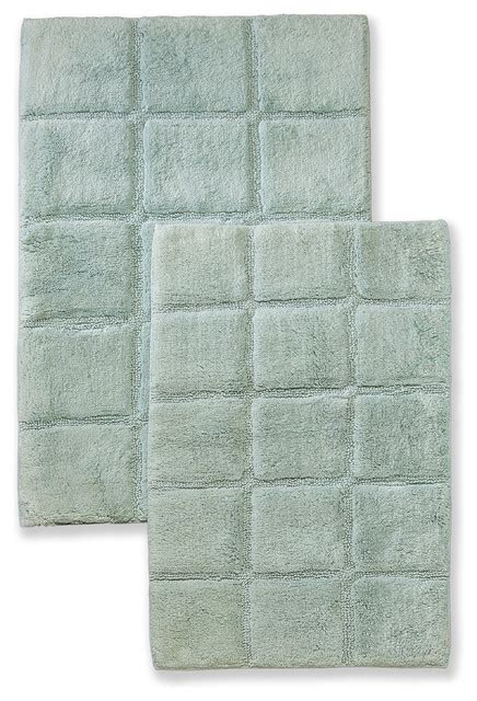 sage bathroom rugs superior collection luxurious cotton checkered bath rug
