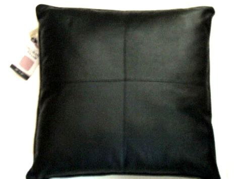 Pillows On Black Leather by Black Faux Leather Pillow Kennedy Home Collection