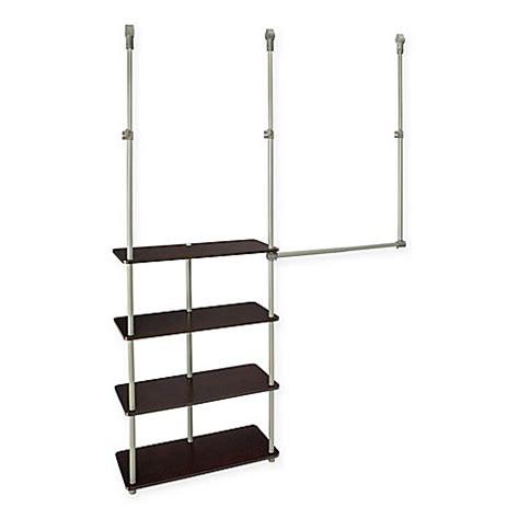 buy closetmaid 174 4 shelf closet maximizer in chocolate from
