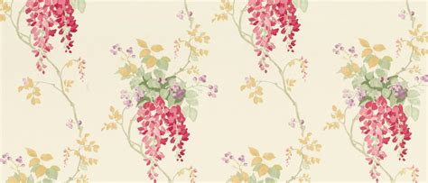 wallpaper wisteria design wisteria cranberry floral wallpaper laura ashley