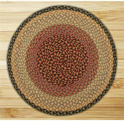 circle jute rug circle burgundy gray and creme jute braided earth rug 174