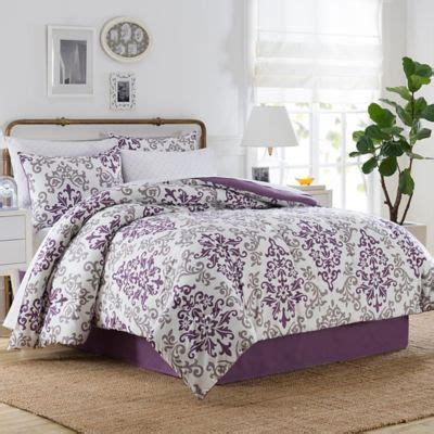 bed bath and beyond twin comforter sets carina 6 piece twin comforter set in purple