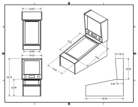 size arcade cabinet plans tredog s mini pin arcade cabinet hyperpin cabinet forum