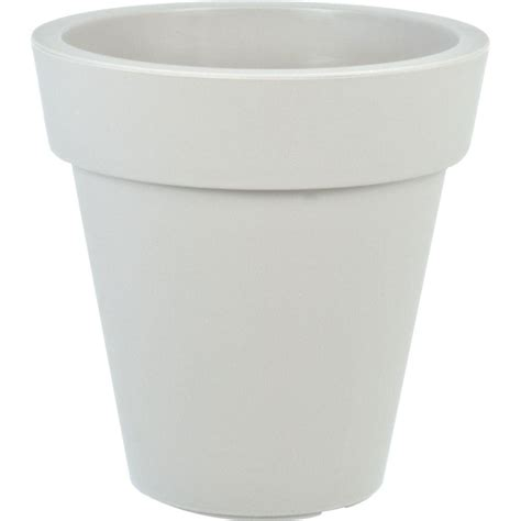home depot plastic planters mela 15 in dia white plastic planter 83300 the