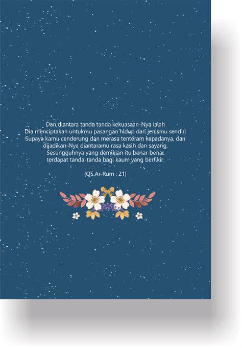 konsep desain undangan pernikahan simpel unik