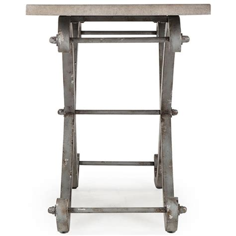 curved leg console table eliza industrial loft curved cross leg metal console table