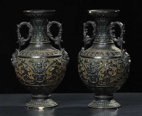 vasi di terracotta antichi coppia di vasi biansati in terracotta xix secolo