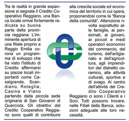 credito cooperativo reggiano credito cooperativo reggiano ccr bcc filiale casalgrande