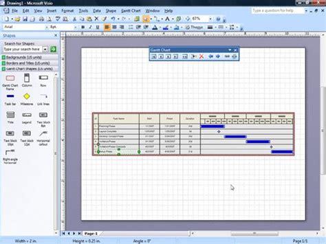 gantt visio how to create a gantt chart in visio 2007 creating a