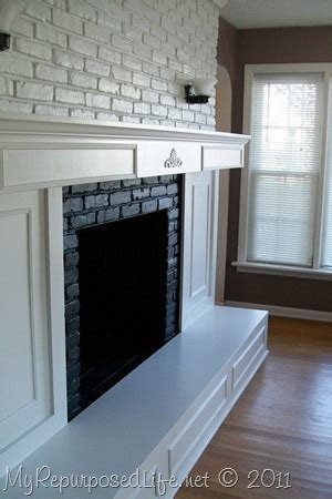 brick fireplace redo for the home