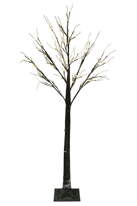 6ft snowy effect warm white twig tree pre lit 120 led xmas