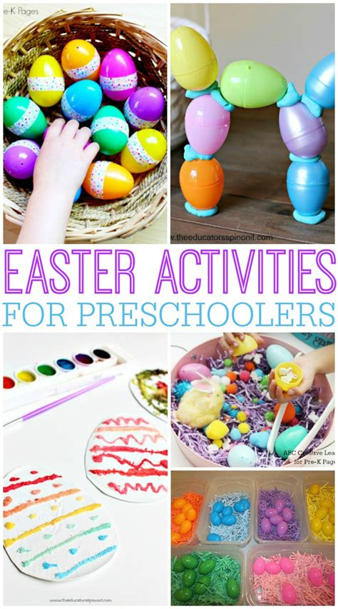 easter games preschool activities for easter pre k pages