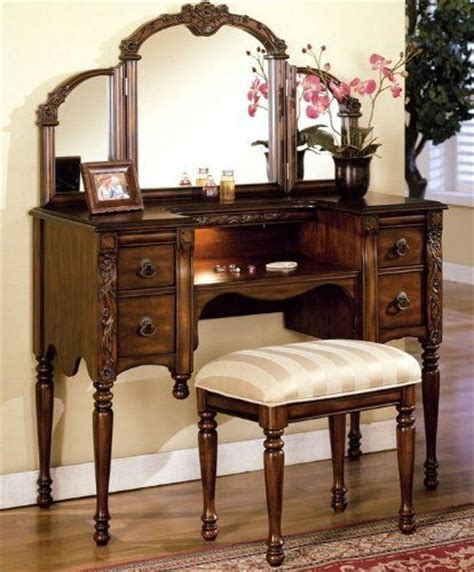 vanities places and stools on pinterest 3pcs ashton walnut finish vanity table with stool set by