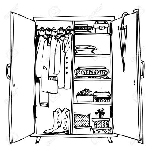 schrank kleider open closet door clipart 44