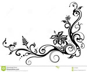 flower and vines pattern stock photography image 12332562