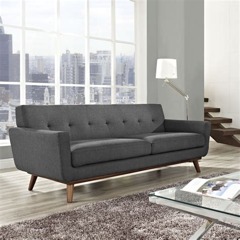 mid century style leather sofa 5 styles for your living room from boho to industrial