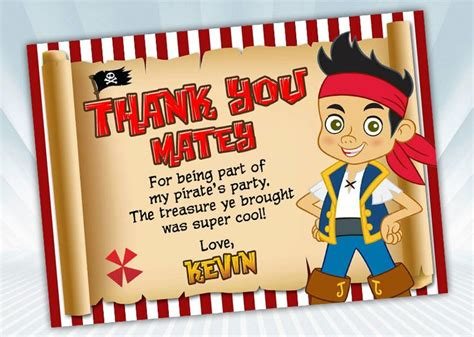 pirate thank you card template 18 best images about pirate on disney