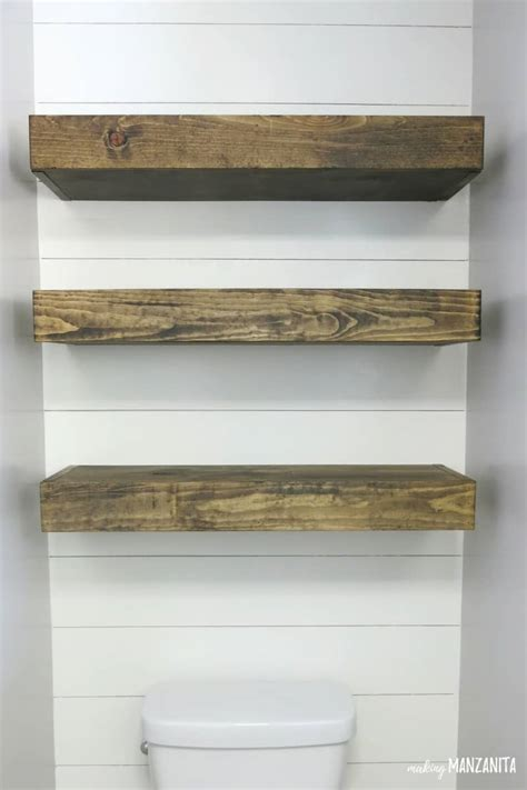 how to build floating shelves how to build floating shelves for bathroom storage