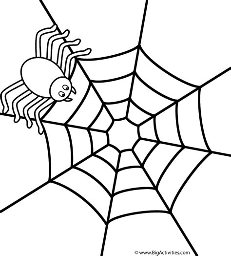 coloring page of spider web spider on web coloring page insects