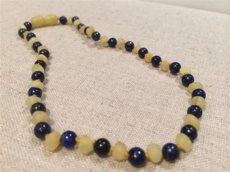 big for toddler necklaces adhd anxiety teething unpolished milk lapis lazuli