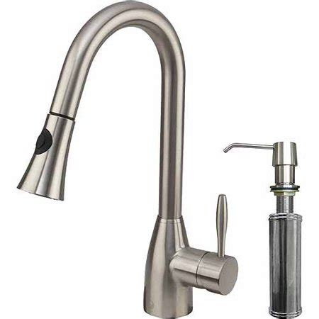 vigo stainless steel pull out kitchen faucet 2018 vigo pull out spray kitchen faucet with soap dispenser stainless steel walmart