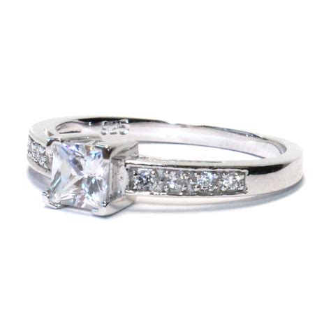 Princess Cut by Princess Cut White Promise Ring Beautiful