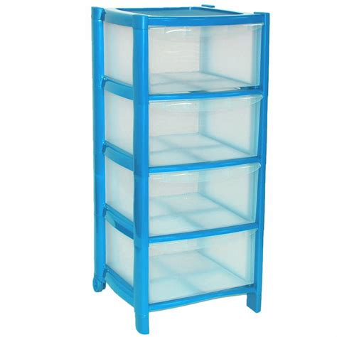 4 Plastic Drawers 4 Drawer Plastic Large Tower Storage Drawers Chest