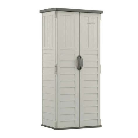 Resin Outdoor Storage Sheds by Shop Suncast Vanilla Resin Outdoor Storage Shed Common