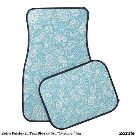 teal blue car retro paisley in teal blue car floor mat teal cars and