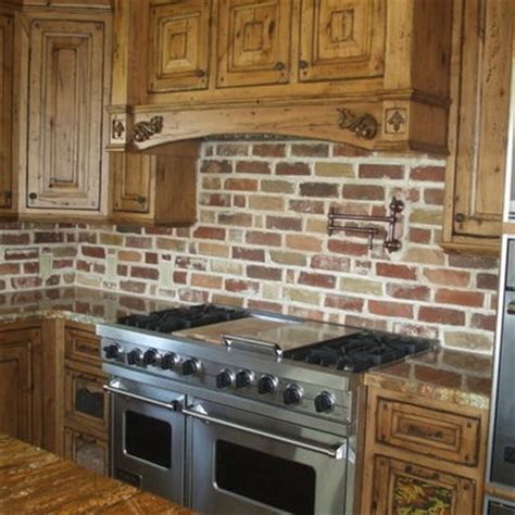 brick kitchen ideas 1000 images about backsplashes on pinterest stone